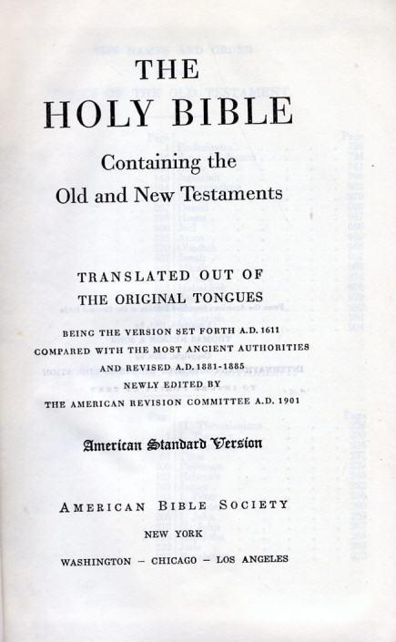 Fremdsprachen 1966 The Holy Bible American Standard